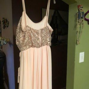 David's Bridal bridesmaid dress size 12 Rose Gold